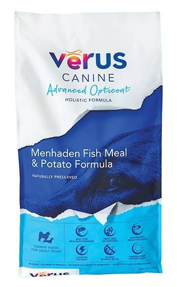 Verus Advanced Opticoat Menhaden Fish Meal & Potato Formula Dry Dog Food, 35lb