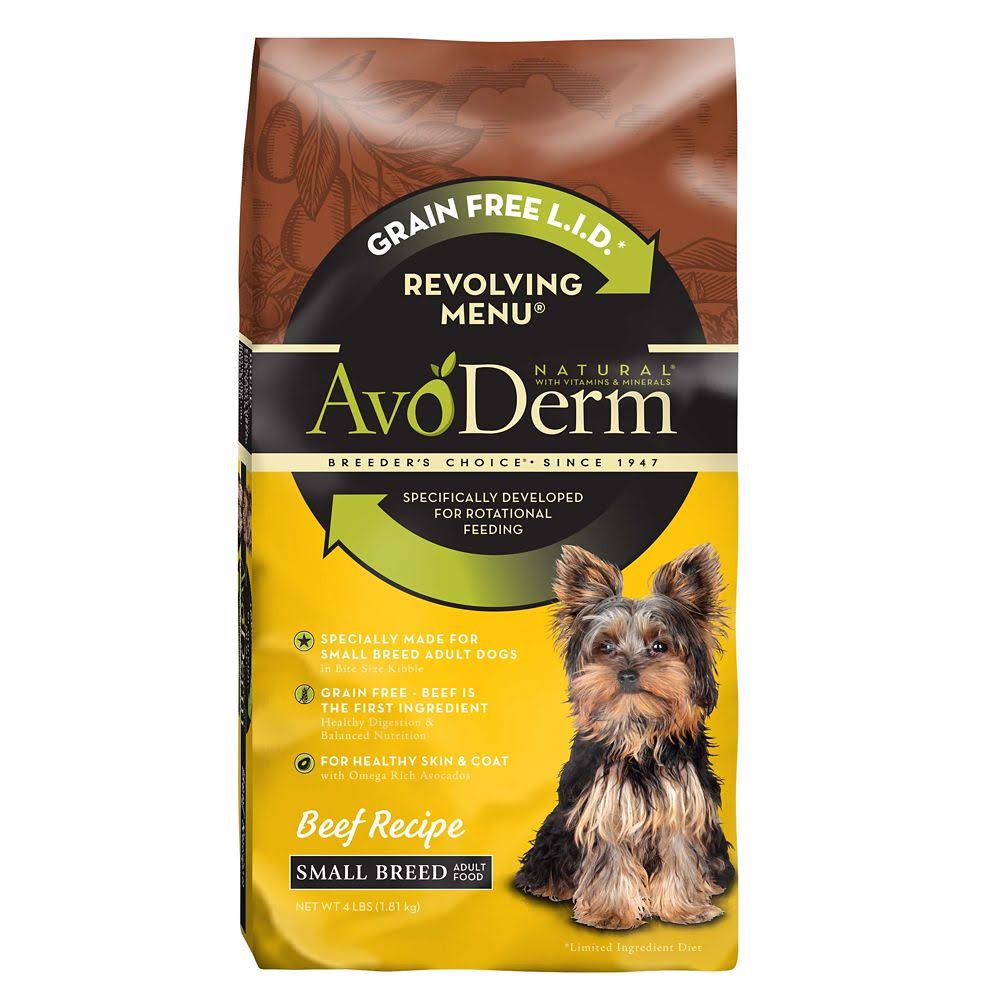 Avoderm Revolving Menu Adult Dry Dog Food - Beef Recipe, 4lbs