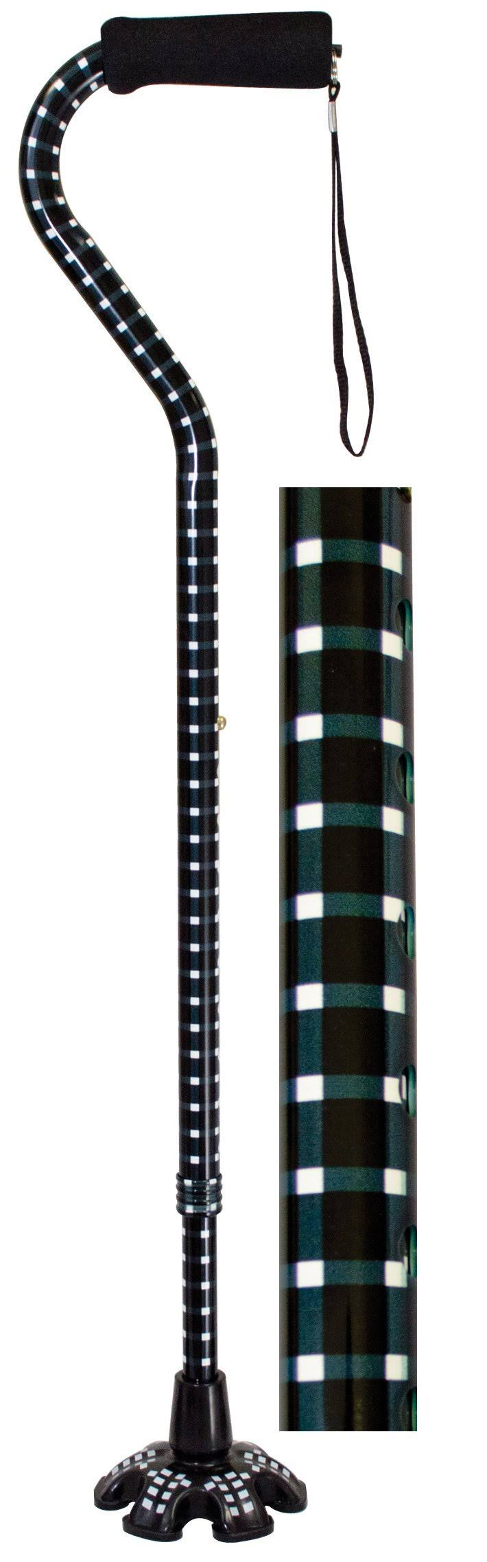 Essential Medical Supply W1343H Couture Offset Cane with Matching Tip - Hounds Tooth