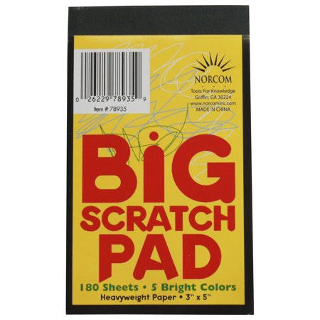 "Norcom Inc Scratch Pad - 3"" X 5"""