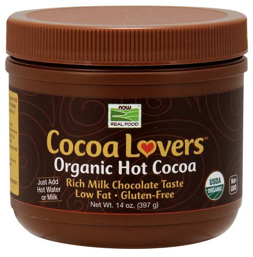 Now Foods Cocoa Lovers Organic Hot Cocoa - 14oz