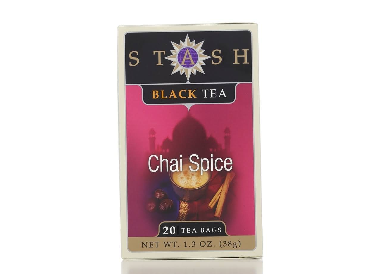 Stash Black Tea - Chai Spice, 20 Bags. 1.3oz