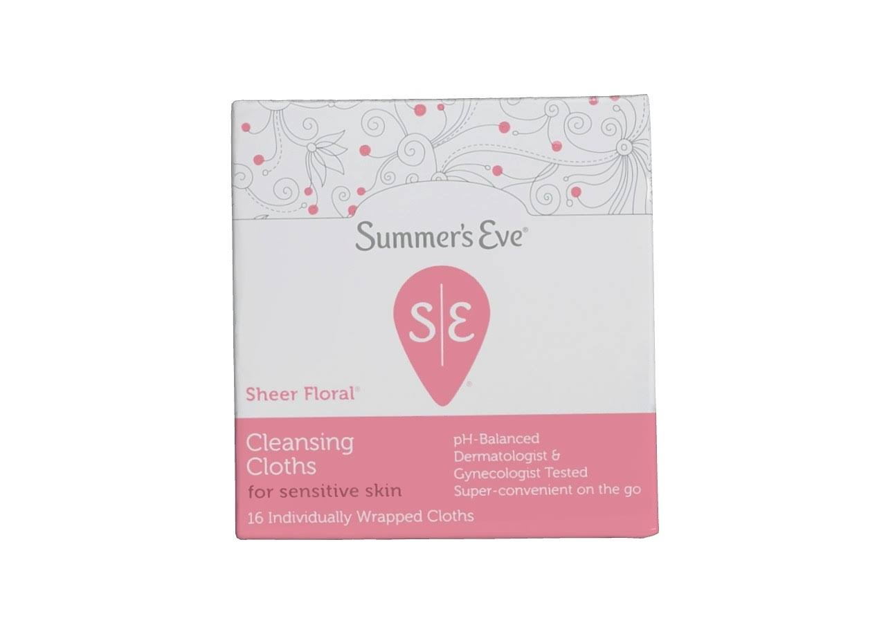 Summer's Eve Sheer Floral Cleansing Cloths - 16ct