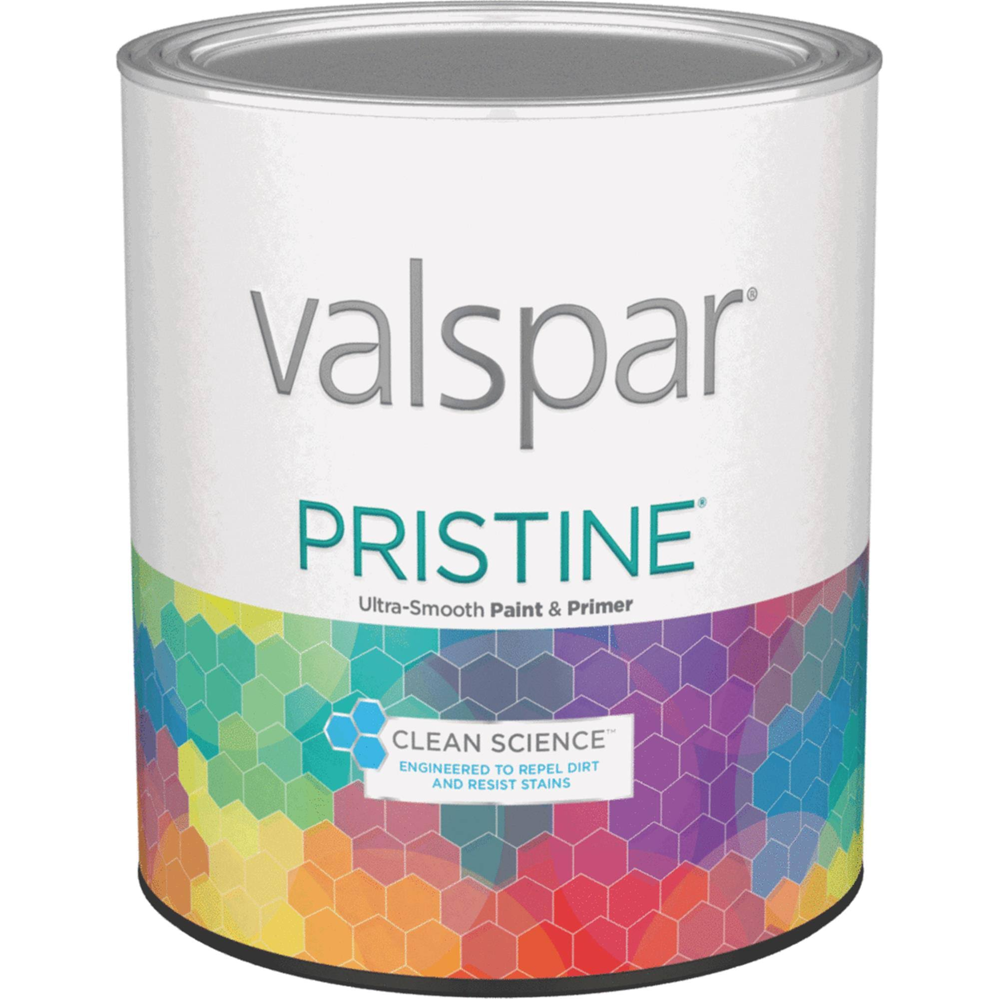 Valspar Pristine Acrylic Paint and Primer Satin Interior Wall Paint - Tint Base, 1qt