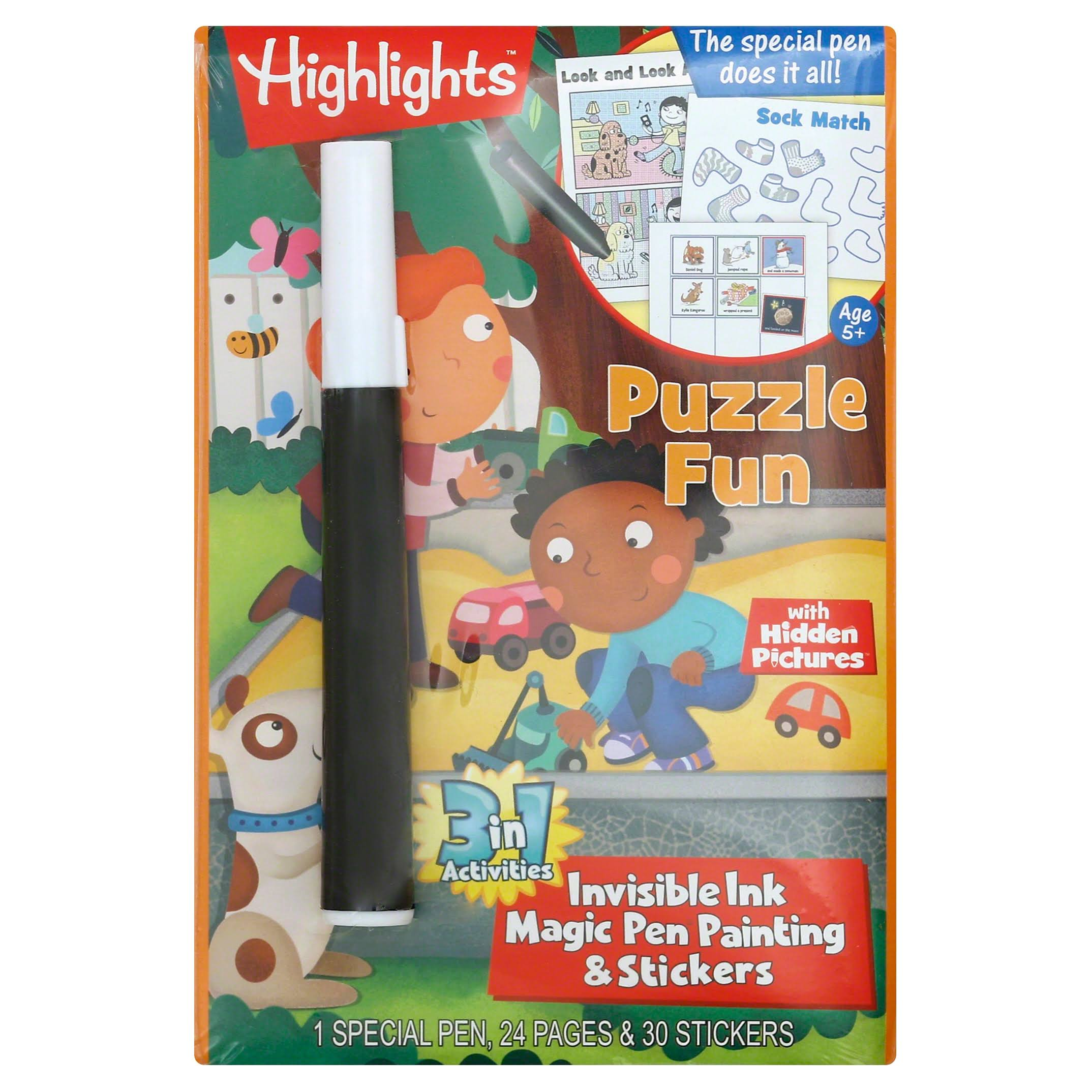 Magic Pen Painting: Highlights 'Puzzle Fun' - Lee Publications