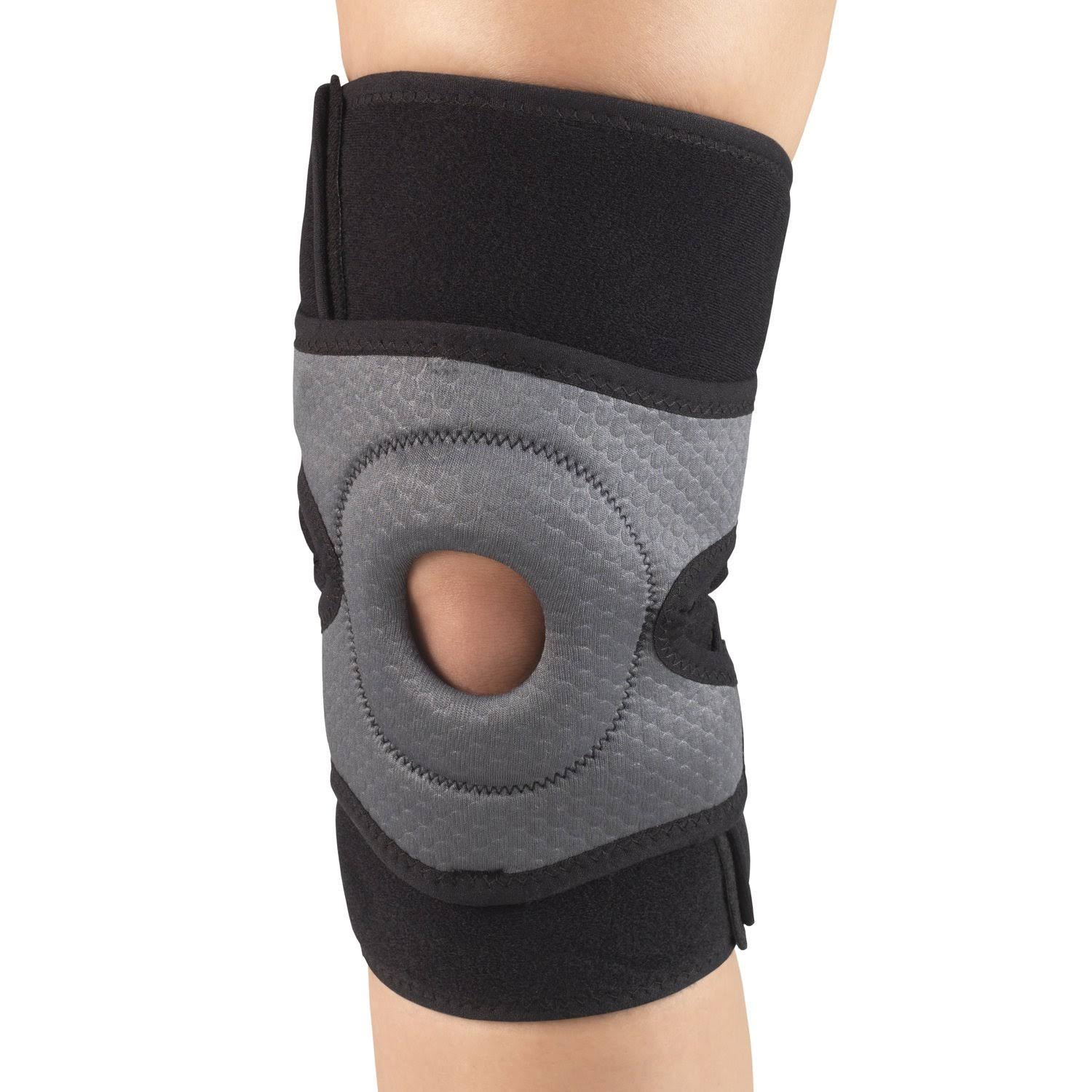 Champion Multilayer Knee Wrap With Stabilizer Pad - Black, Large