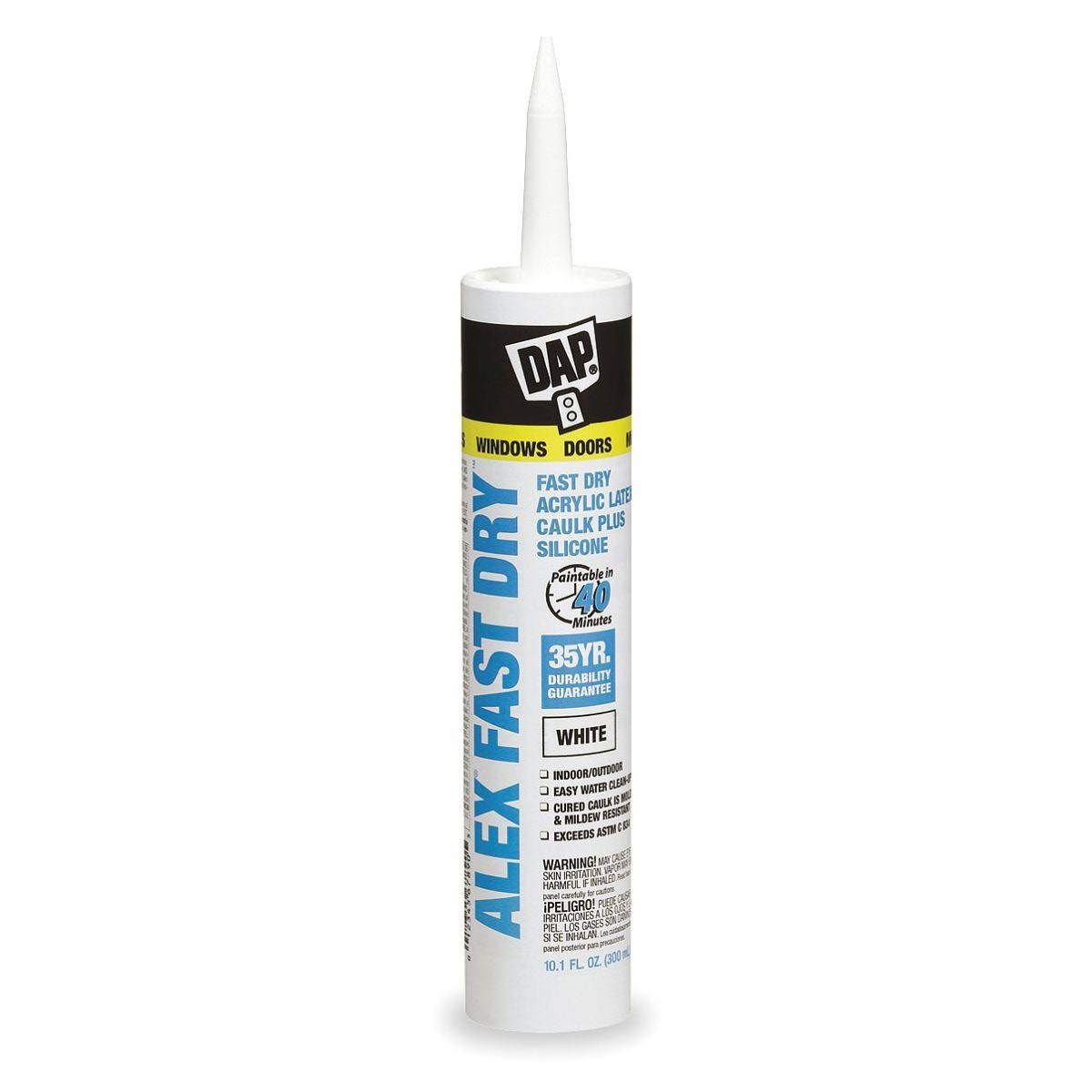 Dap Alex Fast Dry Acrylic Latex Caulk Plus Silicone - 10.1oz