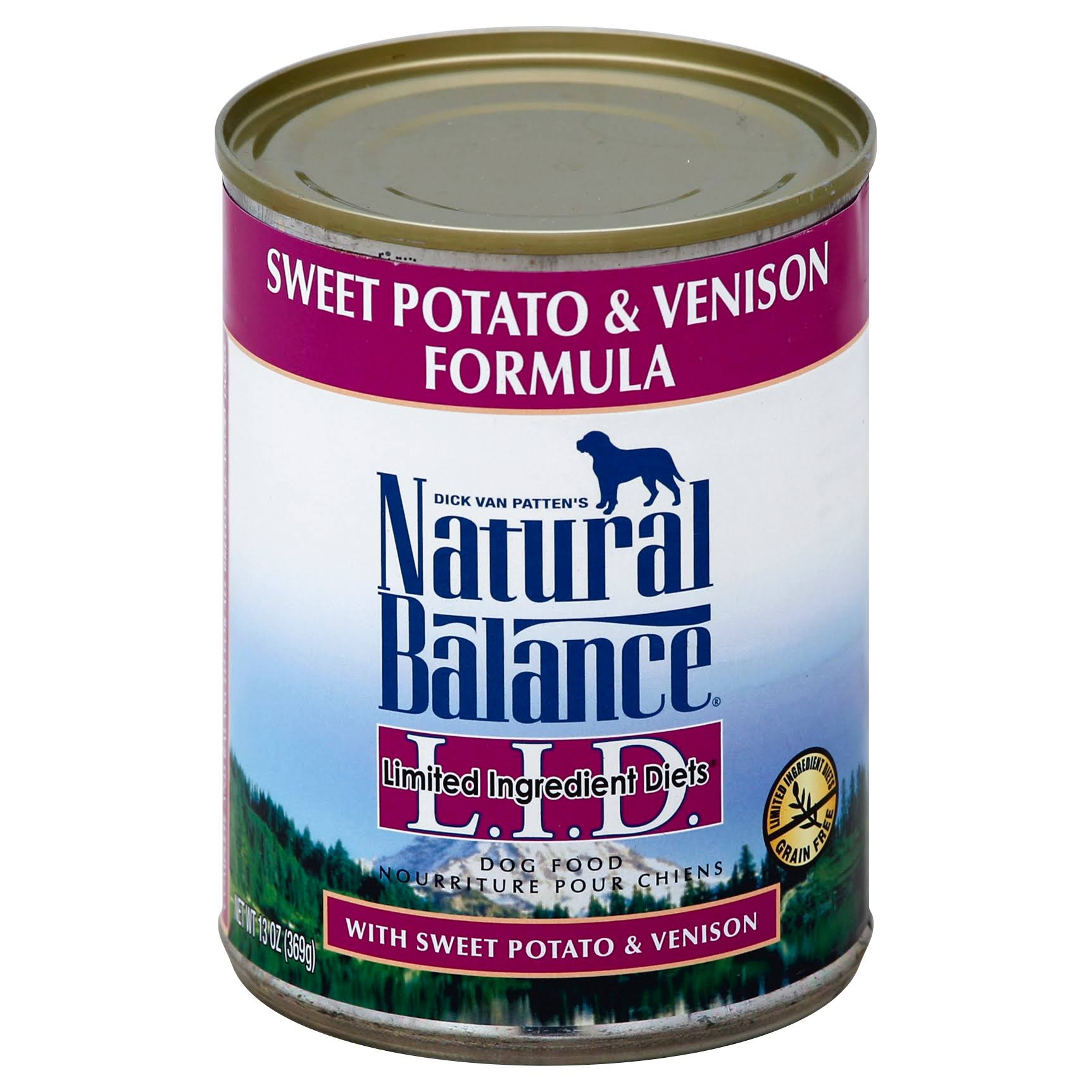 Natural Balance L.I.D. Limited Ingredient Diets Dog Food, Sweet Potato & Venison Formula - 13 oz