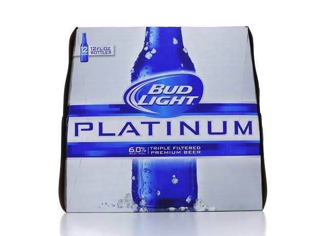 Bud Light Platinum Beer - 12 Bottles