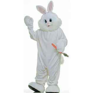 Forum Novelties Adult Deluxe Mascot Costume - Bunny, Size 38 to 42