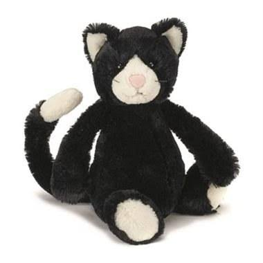 Jellycat Bashful Kitten Plush toy - Medium, Black