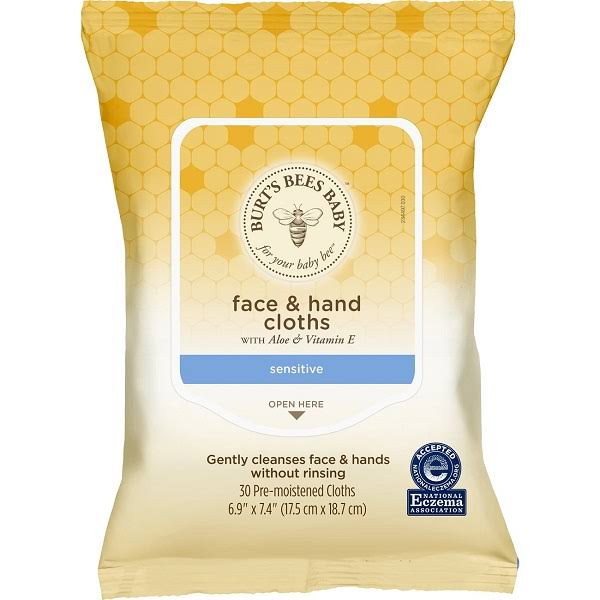 Burt's Bees Face and Hand Cloths - 30 Pre-Moistened Cloth