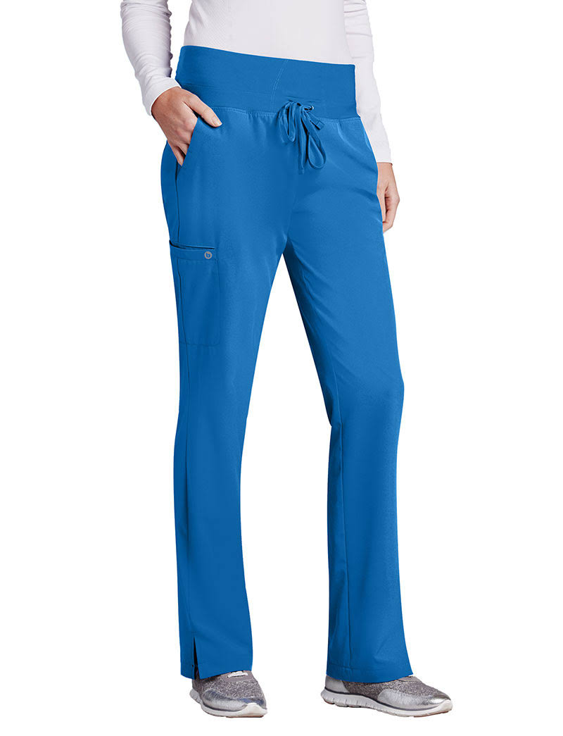 Barco Women's High Knit Waistband Cargo Pants - New Royal, X-Large