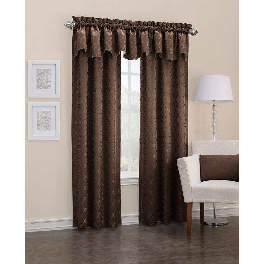 Sun Zero Blackout Danvers Chocolate Thermal Lined Curtain Panel, Brown