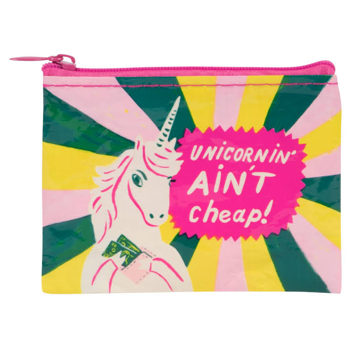 Blue Q Unicornin' Ain't Cheap - Coin Purse