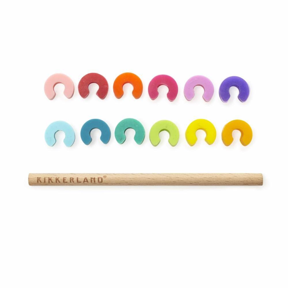 Kikkerland Rainbow Drink Glass Markers - 12pcs