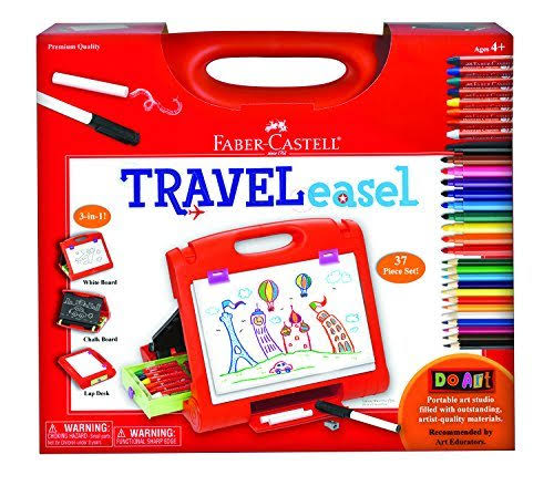Faber Castell Travel Easel - Do Art, 37pcs Set