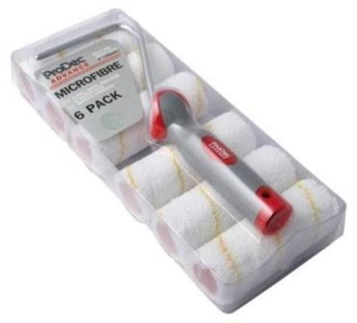 ProDec Advance Microfibre with Mini Paint Rollers - 6 Pack, 4 inch