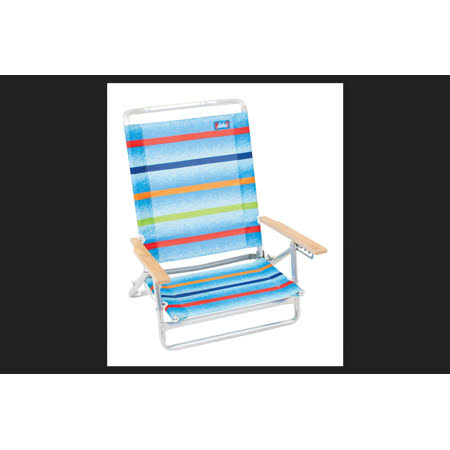 Rio Brands Aloha 5 Position Beach Chair - Multicolored, Polyester