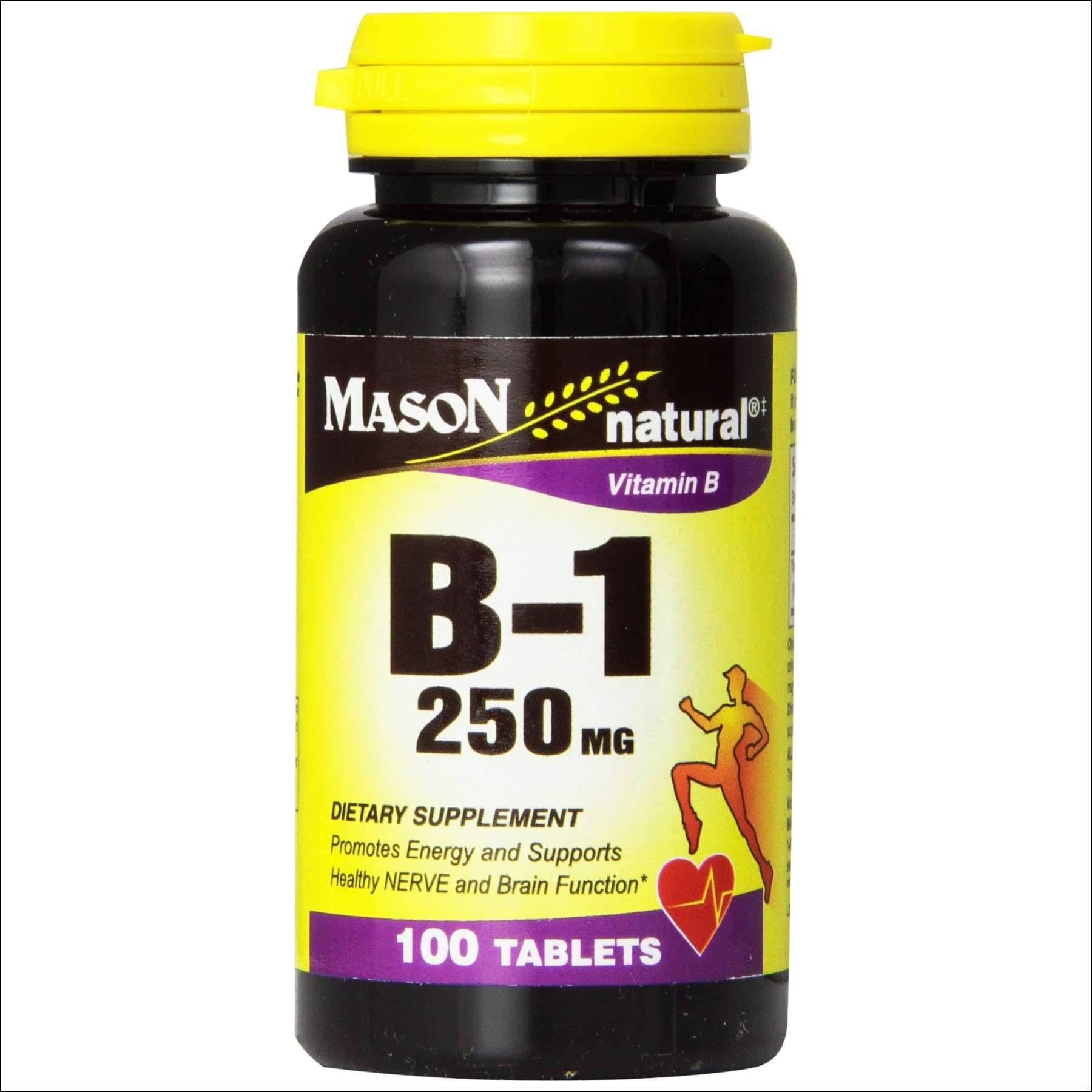 Mason Naturals Vitamin B1 Dietary Supplement - 100 Tablets