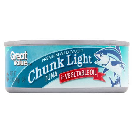 Great Value Chunk Light Tuna in Vegetable Oil - 5oz