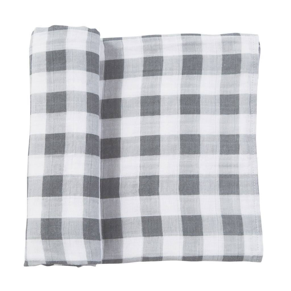 Mud Pie Muslin Gingham Swaddle Blanket