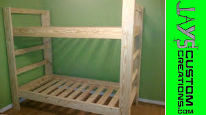 twin over twin bunk bed 023 youtube