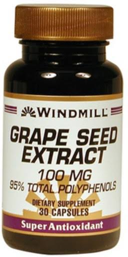 Windmill Grape Seed Extract - 100mg, 30 Capsules