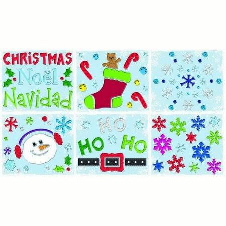 Impact Innovations Christmas Gel Cling Assortment - 12 x 12 ""