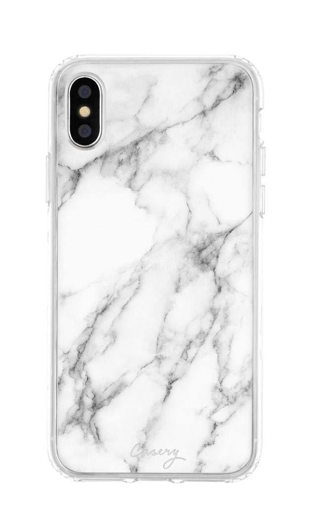 The Casery iPhone X/XS New White Marble