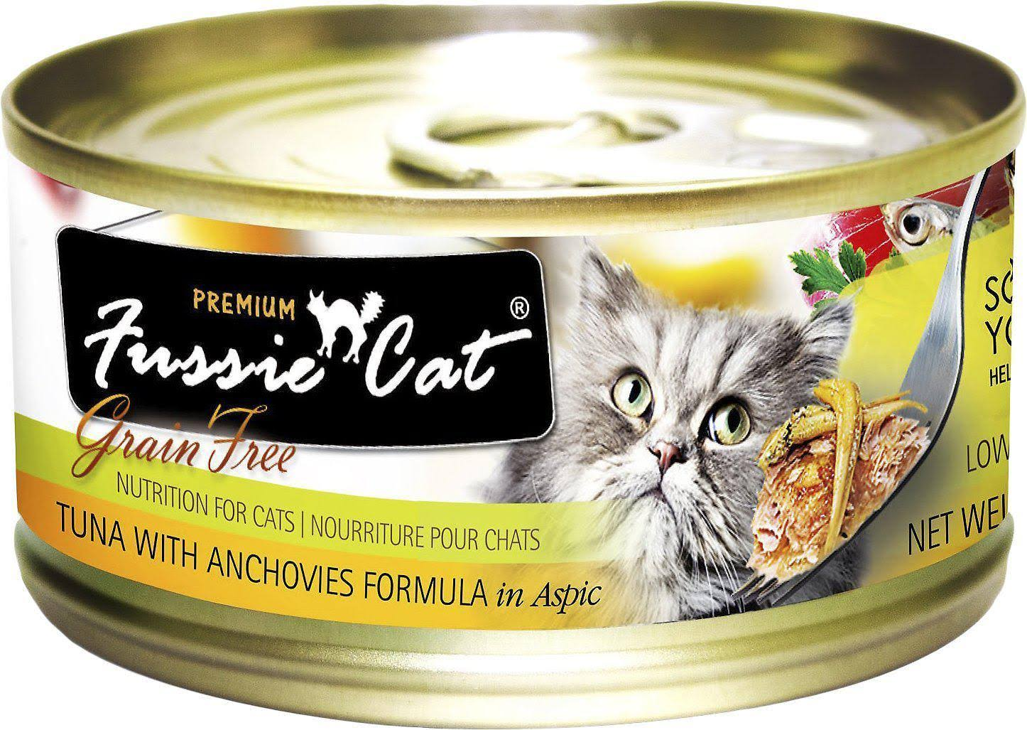 Fussie Cat Grain Free Tuna & Anchovy Can Cat Food - 2.8 oz can