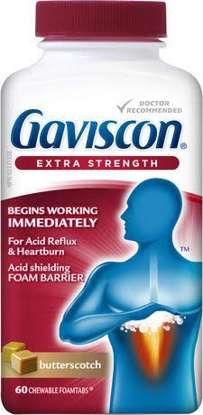 Gaviscon Extra Strength 2 x 60 Caramel Chewable Foamtabs Canadian