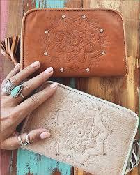 Gypsy Home Decor Nz by Drifter Mandala Leather Wallet In Blush Or Tan U2013 Neon Gypsy