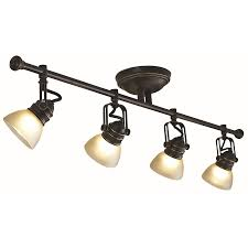 Kitchen Track Lighting Ideas by Shop Allen Roth 4 Light Bronze Fixed Track Light Kit At Lowes