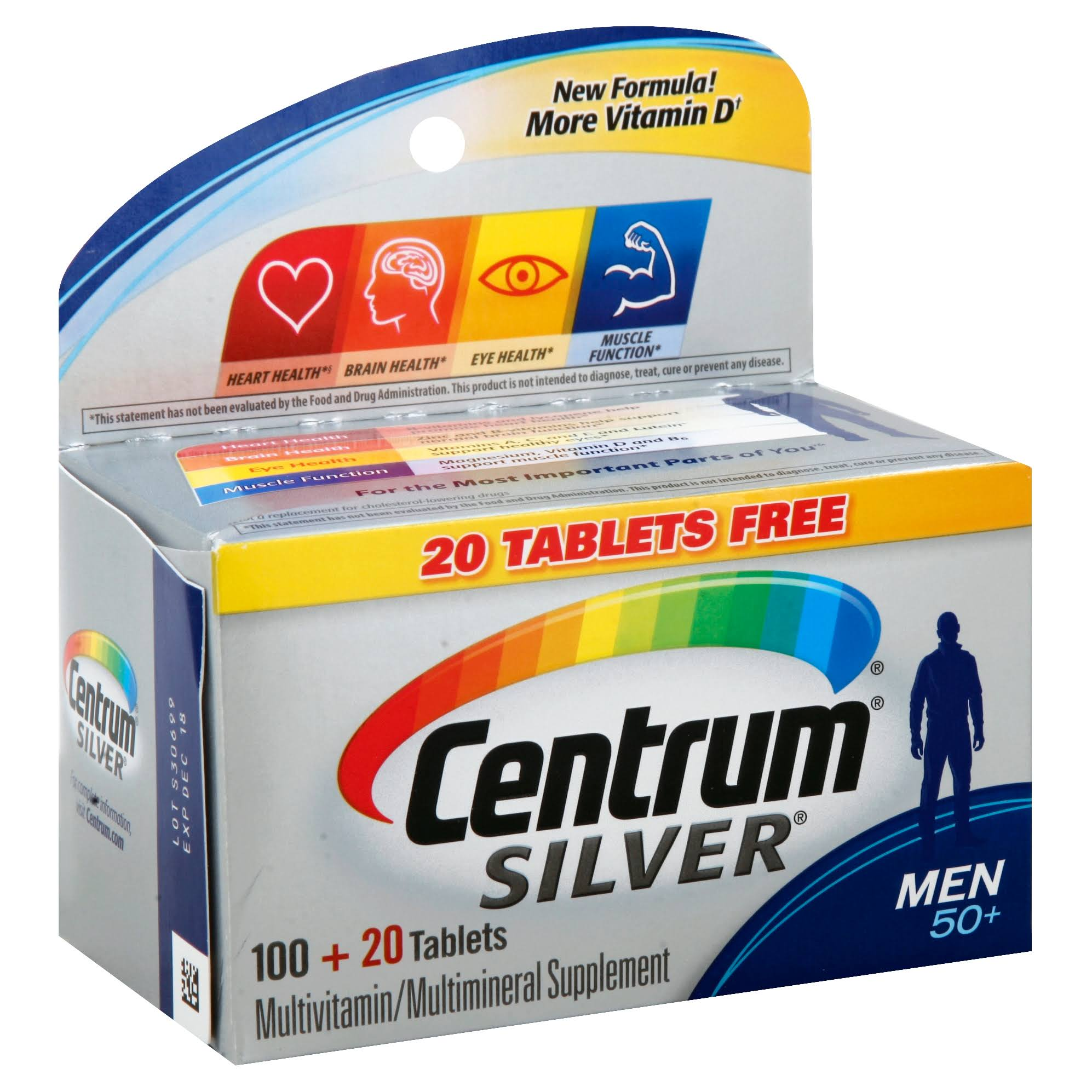 Centrum Silver Men's Multivitamin Dietary Supplement - 100ct