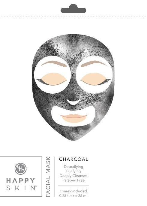 Happy Skin Rejuvenating Facial Sheet Mask - Charcoal
