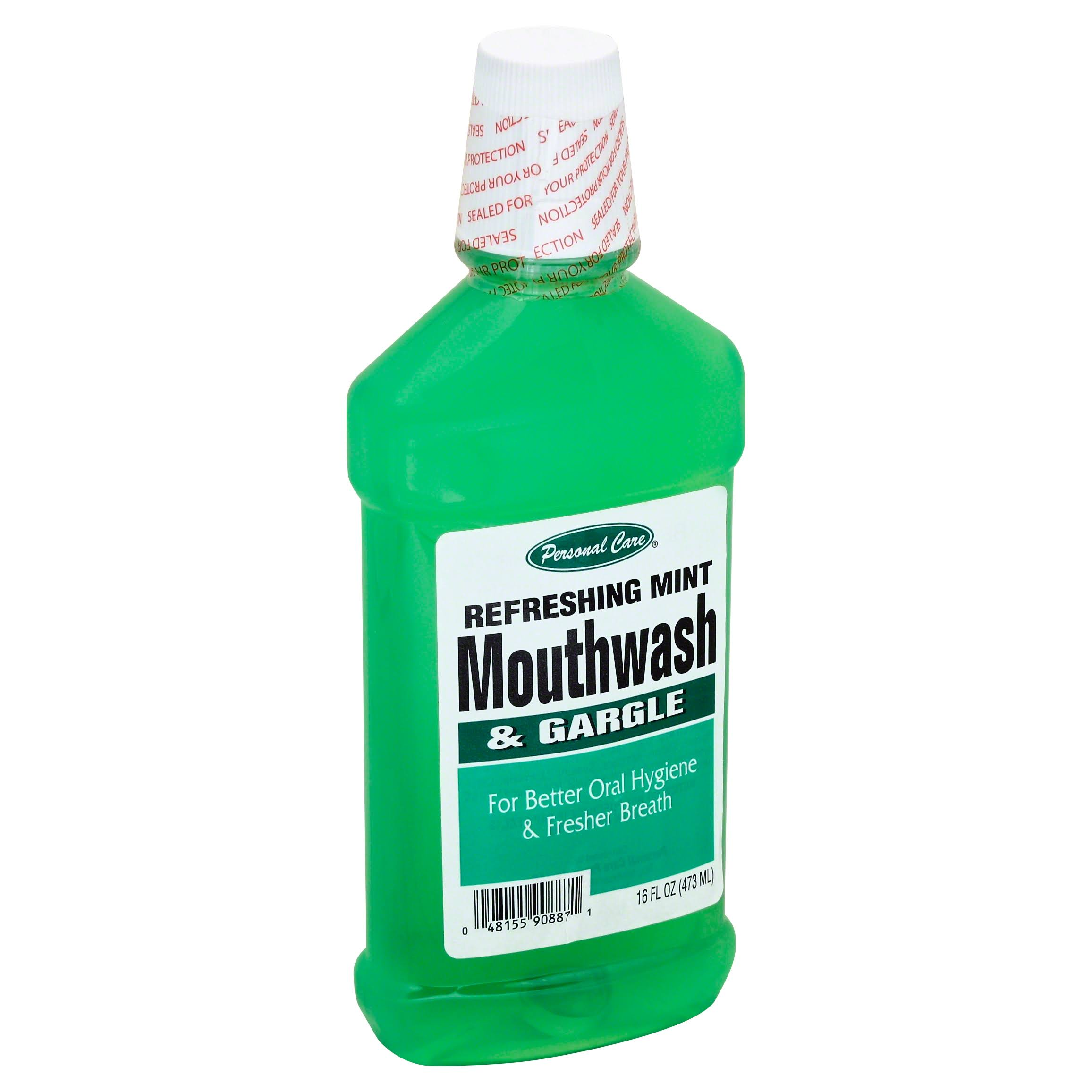 Personal Care Mouthwash - Refreshing Mint, 470ml