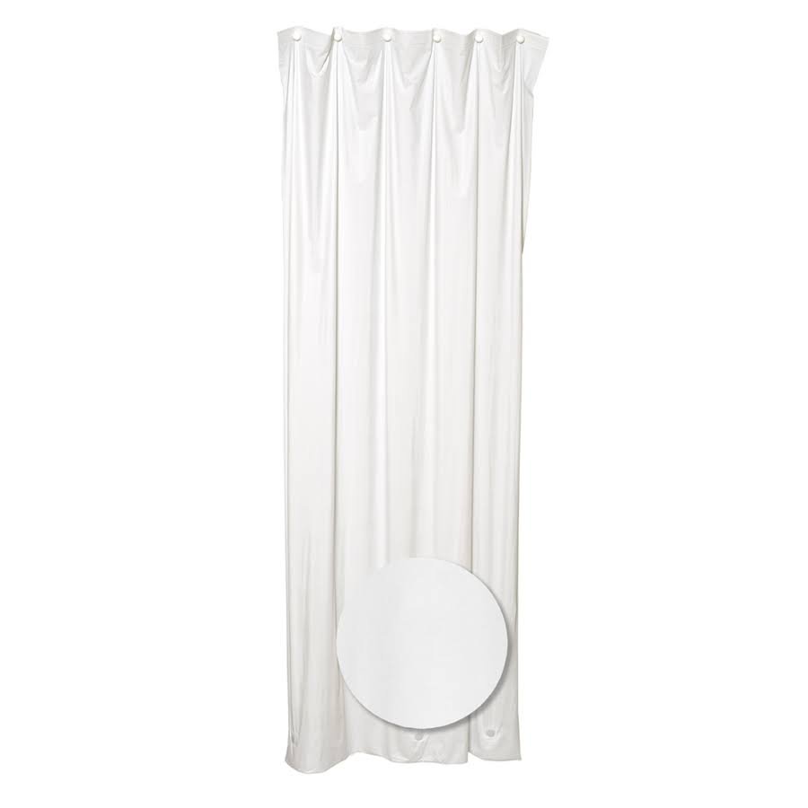 Zenith Home Vinyl Shower Liner White