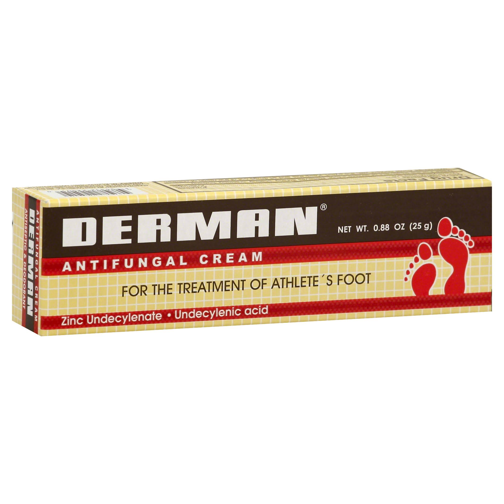 Derman Antifungal Cream Athlete's Foot Treatment - 25g