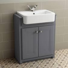 Ebay Bathroom Vanity With Sink by Traditional Grey Bathroom Vanity Unit Basin Furniture Storage