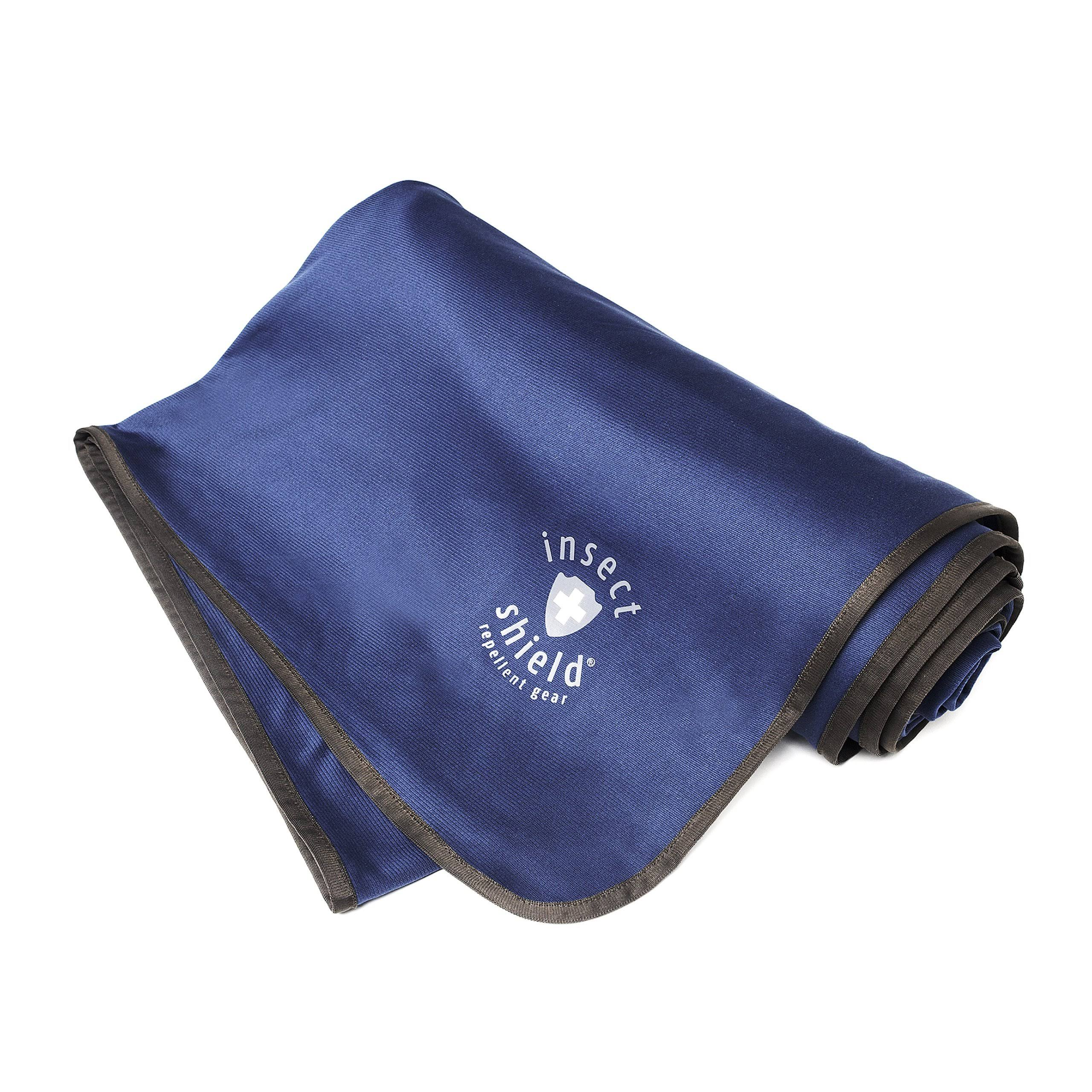 "Insect Shield Outdoor Blanket - Dark Blue, 56""x74"""