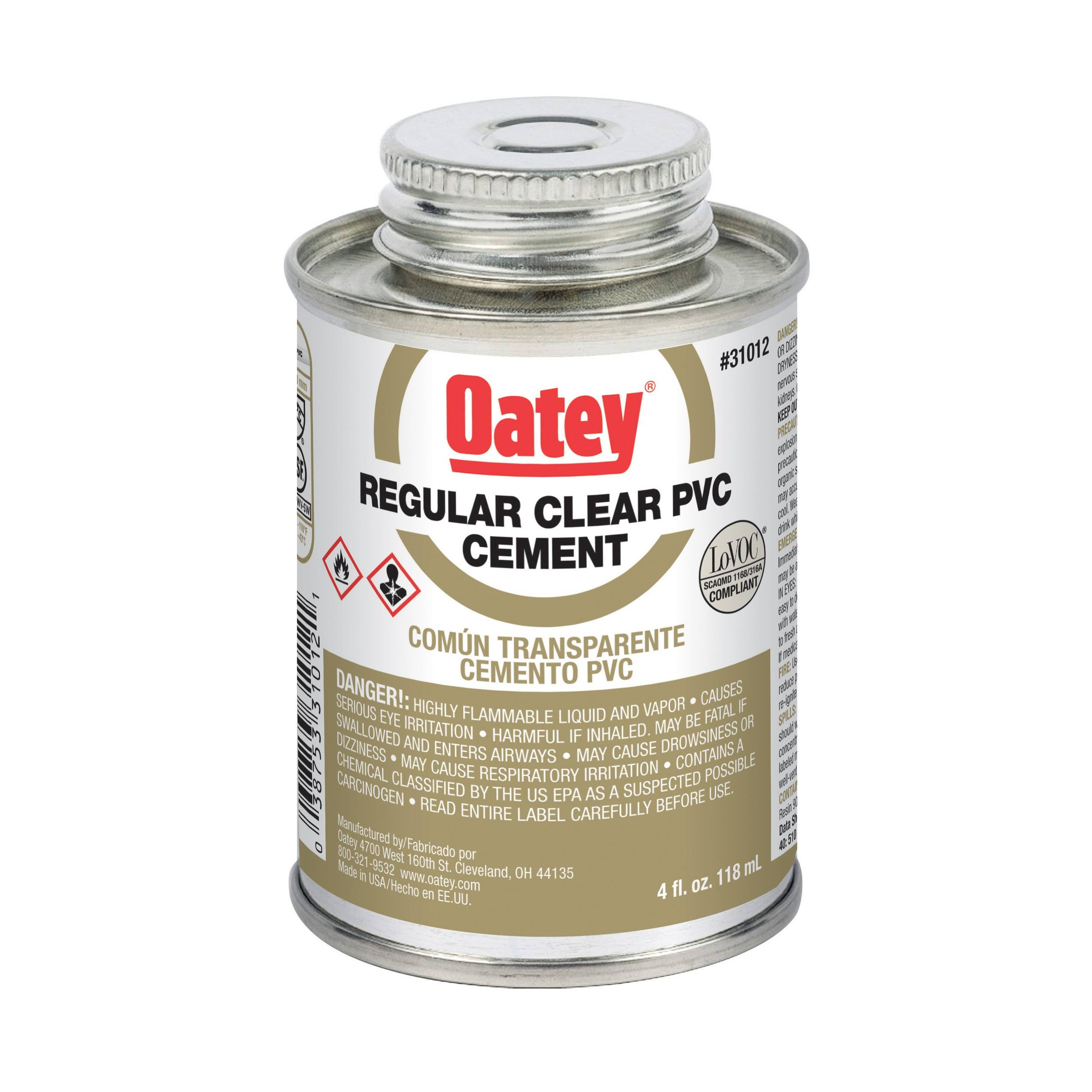 Oatey Medium Gray Pvc Cement - 8oz