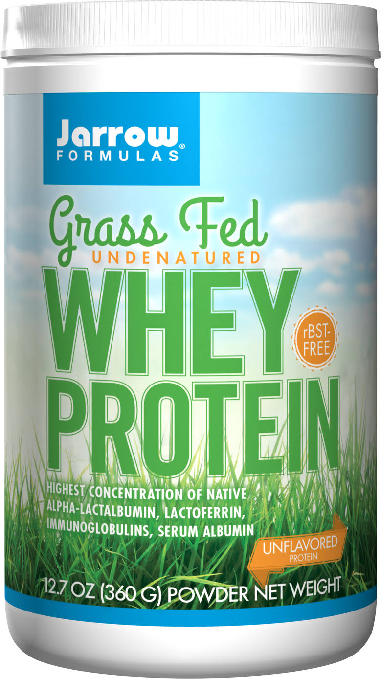 Jarrow Formulas Grass Fed Whey Protein - Unflavored, 360g