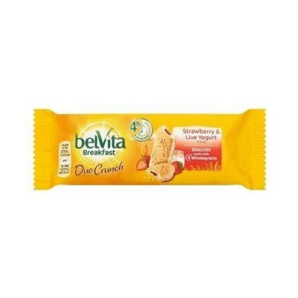 Belvita Breakfast Duo Crunch - Strawberry & Live Yogurt, 50.6g