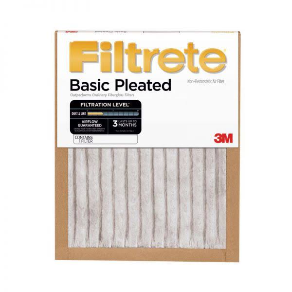 "Filtrete 3M Basic Pleated Filter - 14"" x 30"" x 1"""