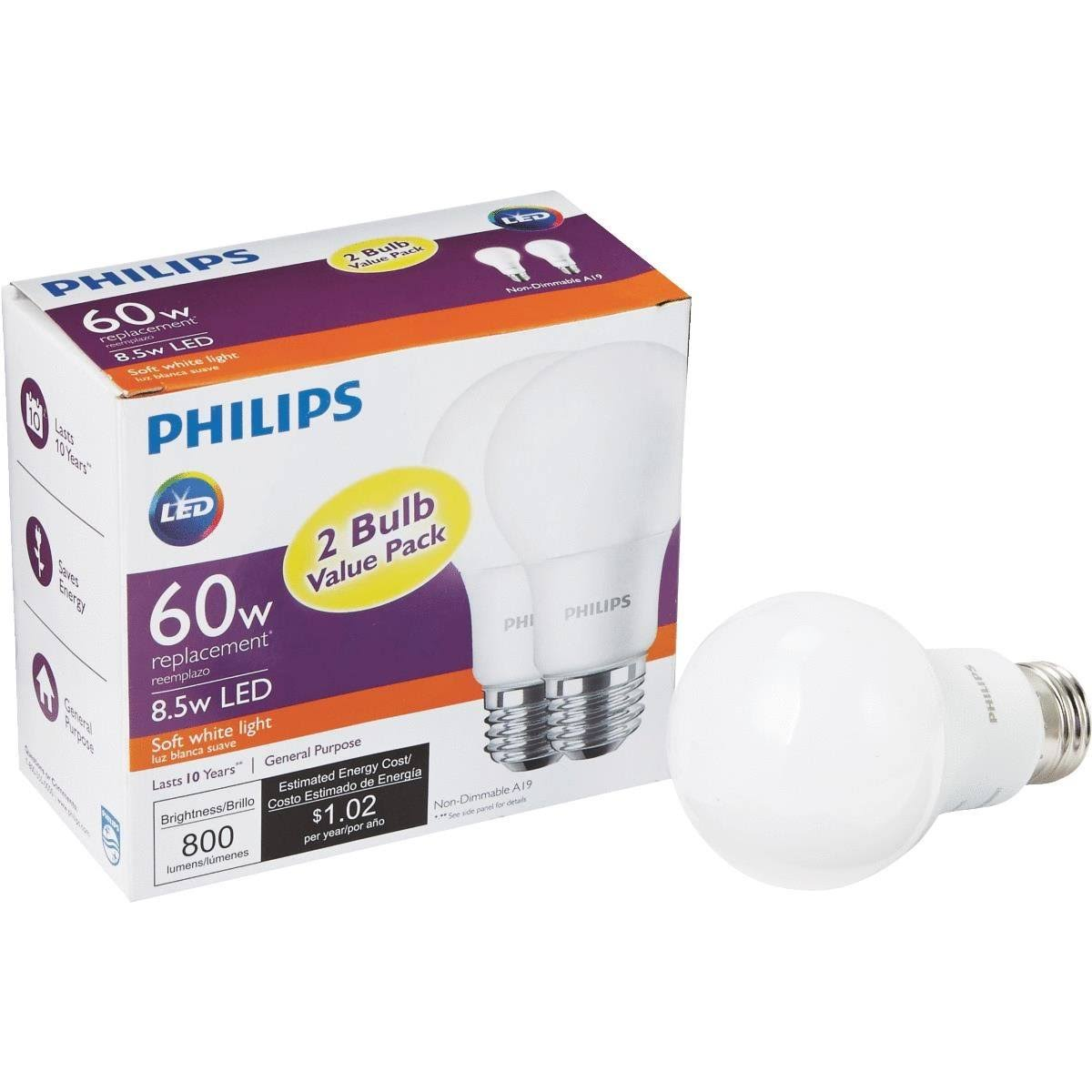 Philips A19 Medium LED Light Bulb - 462150