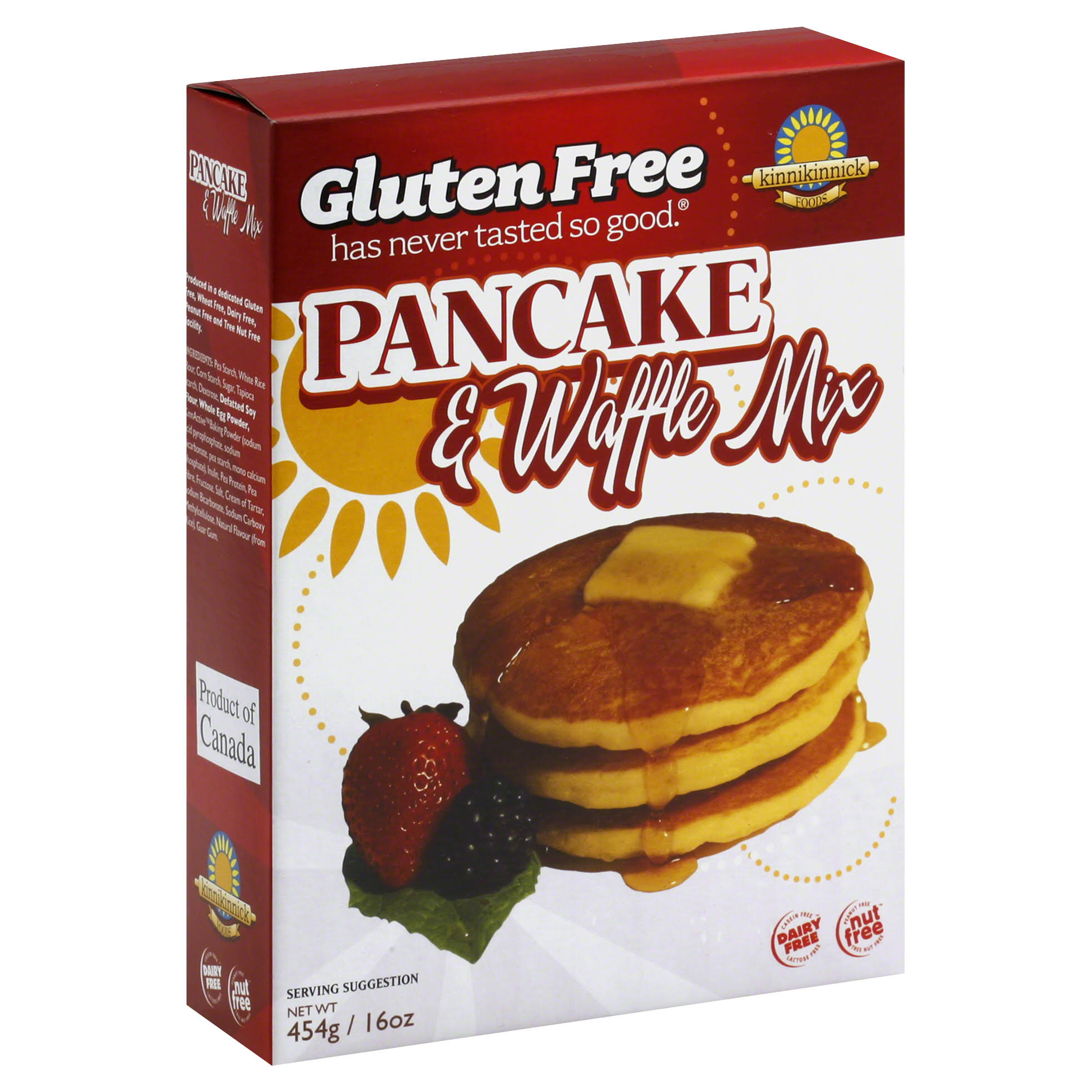 Kinnikinnick Foods Gluten Free Pancake and Waffle Mix - 16oz