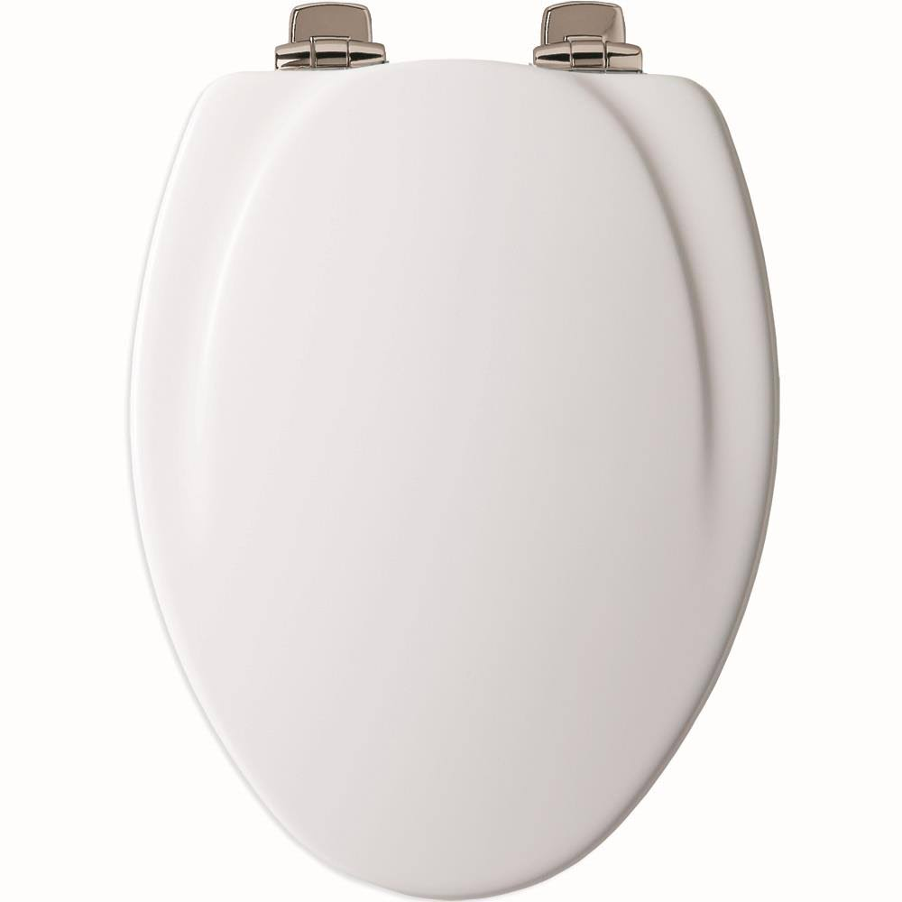Mayfair 130NISL000 Designer Series Wood Toilet Seat - White