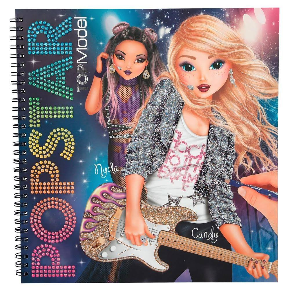 Top Model Popstar Colouring Book