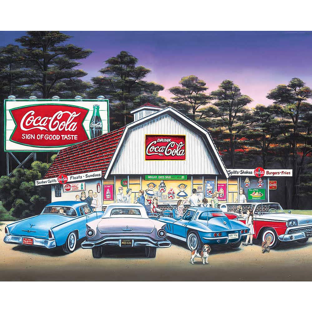 Springbok Puzzles Night on the Town 1500 Piece Jigsaw Puzzle